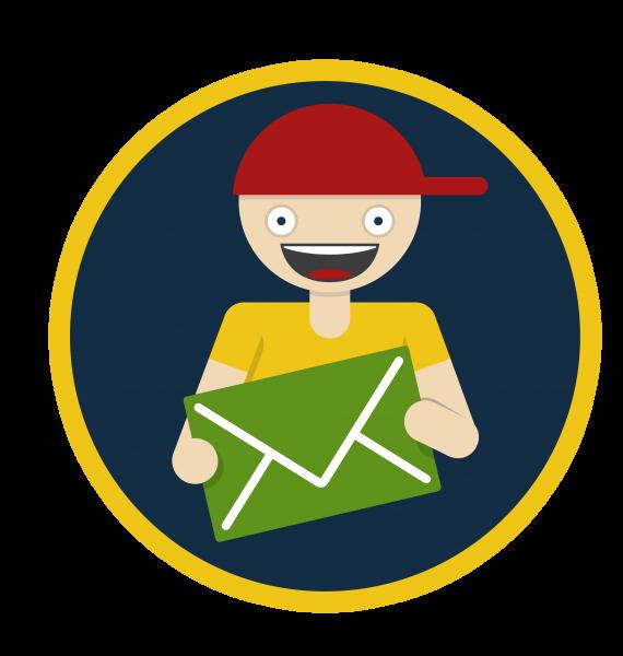 email postman_Logo 1 transparant circle